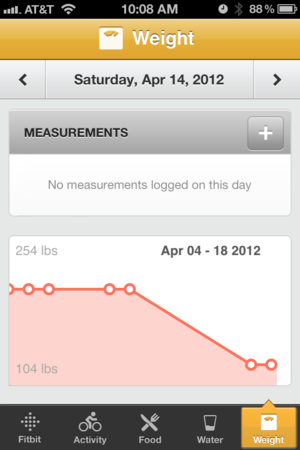 The iPhone App: Weight