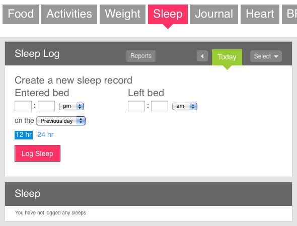 Track sleep