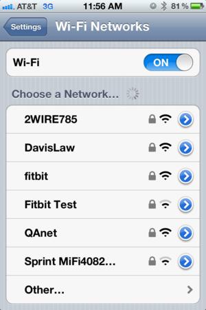Modification de réseau sur un iPhone: Paramètres Wi-Fi