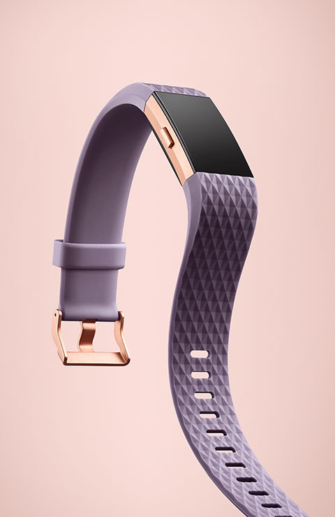 Charge 2 in lavender/rose gold.