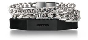 Three Row Silicone & Link Bracelet