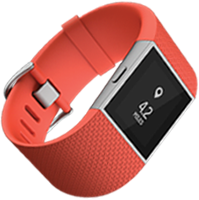 Fitbit Surge in Orange