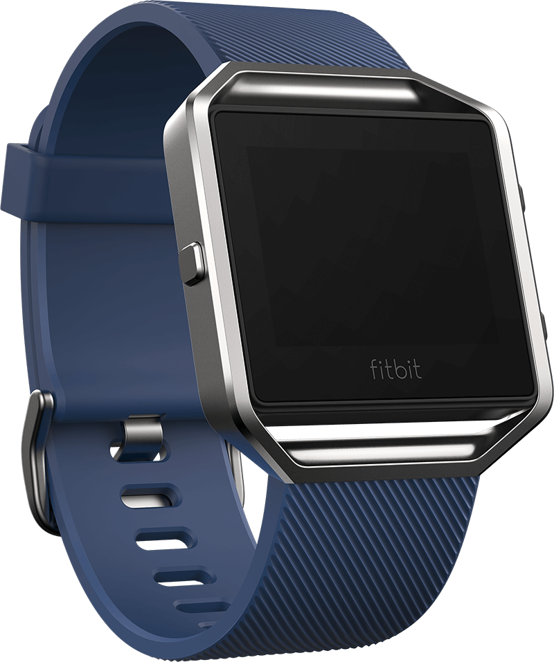 Fitbit Blaze Smart Fitness Watch Small, Blue and Silver